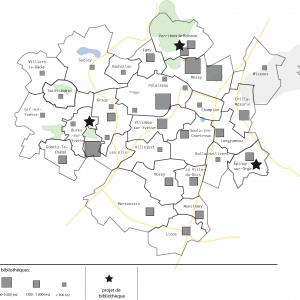 Etude sur l'optimisation du réseau de lecture publique à Paris-Saclay