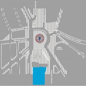 Co-conception et co-construction pour la préfiguration de l'aménagement de la place de la Bastille à Paris
